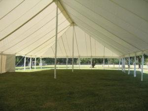 Pole Tent White Interior