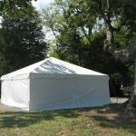 Frame Tent White Solid Sidewall
