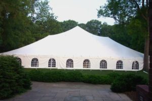 Pole Tent with Cathedral Window Sidewall